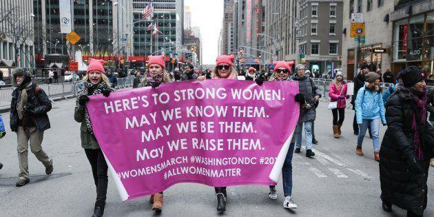 Il gelo non ferma la marcia delle donne