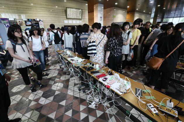 I cittadini di Hokkaido ricaricano gli