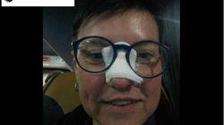 Una pallonata di Cr7 la colpisce, la tifosa soddisfatta posta la foto su Fb: