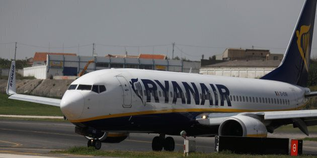 A Ryanair Boeing 737-800 plane taxis at Lisbon's airport, Portugal April 24, 2018. REUTERS/Rafael