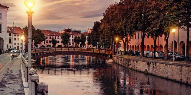 Treviso at dusk,