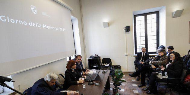 Un momento alla Fondazione Museo della Shoah durante iniziativa FNSI con Comunità ebraica in occasione...
