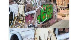 Murale in centro a Torino con Salvini a testa in giù. Il ministro: