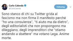 Carlo Calenda a futura memoria: