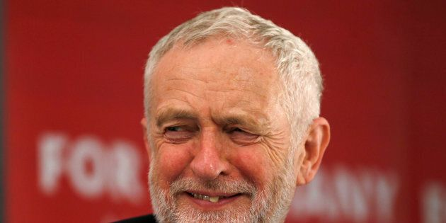 The leader of Britain's Labour Party Jeremy Corbyn attends a housing policy event in London, April 19,...