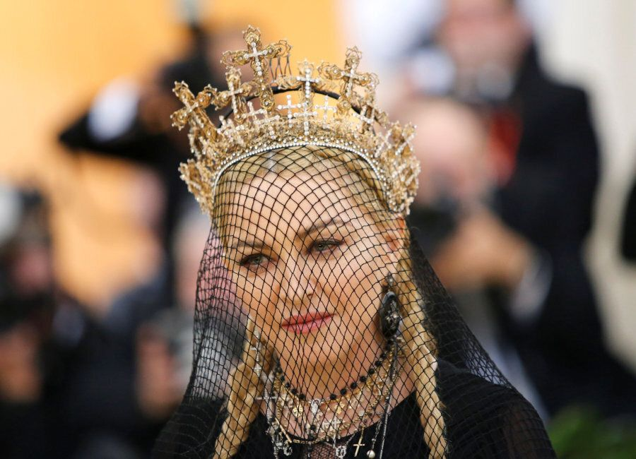 Madonna arrives at the Metropolitan Museum of Art Costume Institute Gala (Met Gala) to celebrate the...