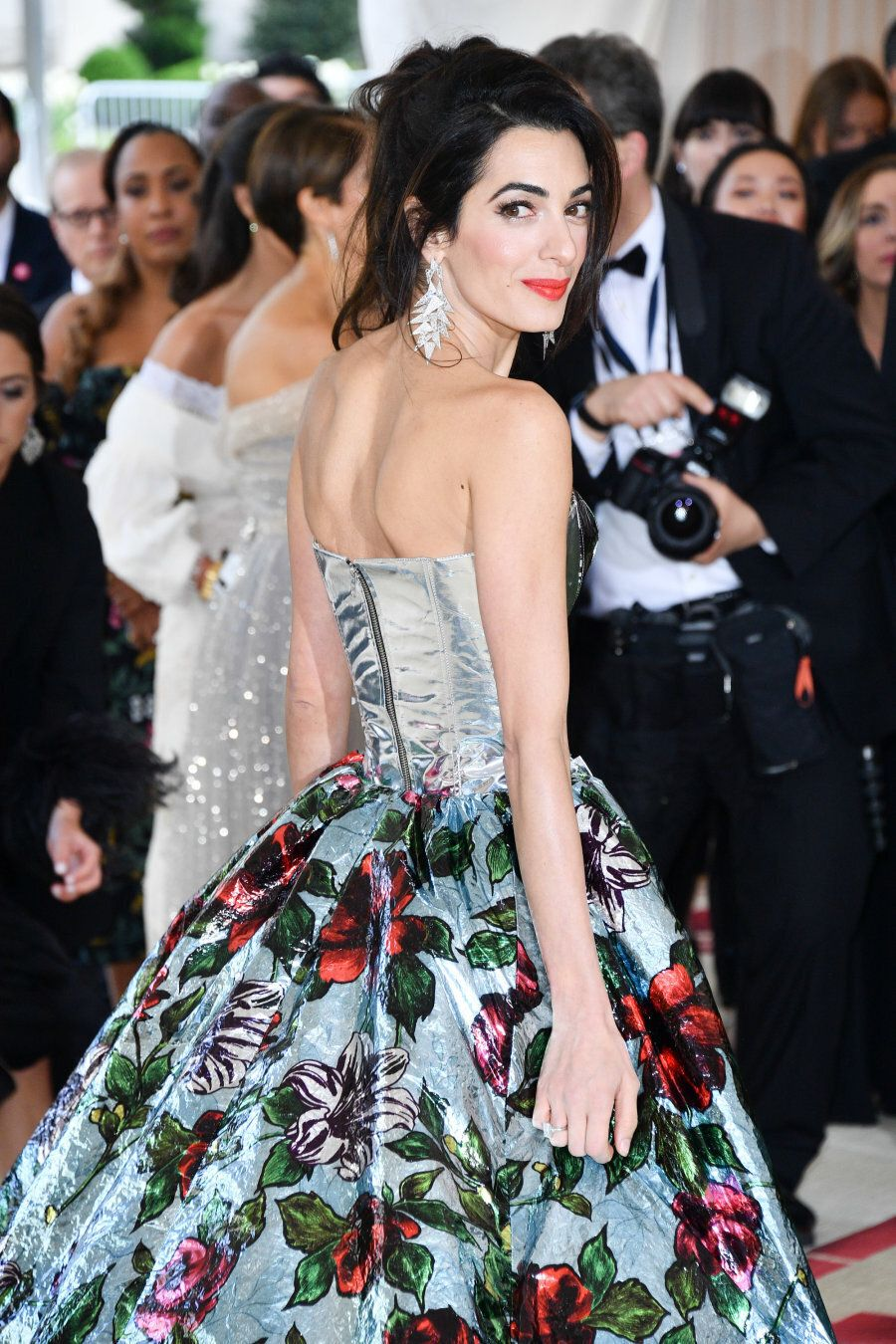 NEW YORK, NY - MAY 07: Met Gala Co-host Amal Clooney attends the Heavenly Bodies: Fashion & The Catholic...