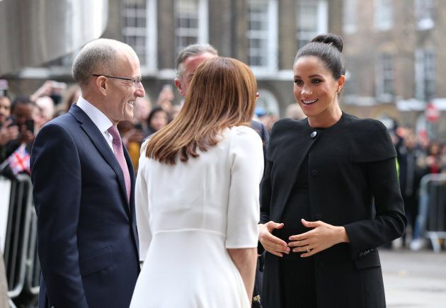 The Duchess of Sussex arriving for a visit to the Association of Commonwealth Universities at the University...