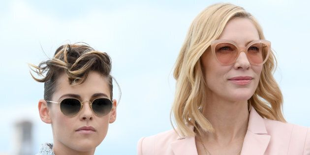 CANNES, FRANCE - MAY 08: (L-R) Jury member Kristen Stewart and jury president Cate Blanchett attend the...