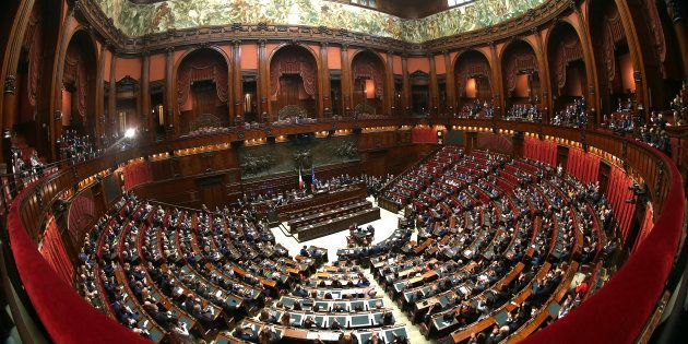 ROME, ITALY - MARCH 24: A general view of Italian Chamber of Deputies during the voting for the new president...