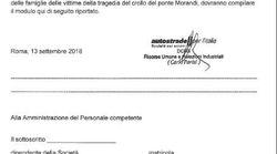 Modulo ai dipendenti Autostrade per donare ore di lavoro alle famiglie di Genova. Toninelli: