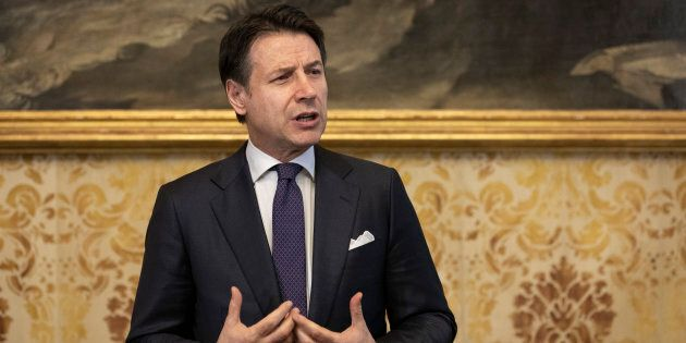 MILAN, ITALY - JANUARY 30: Italian Prime Minister Giuseppe Conte holds a news conference at Palazzo Marino,...