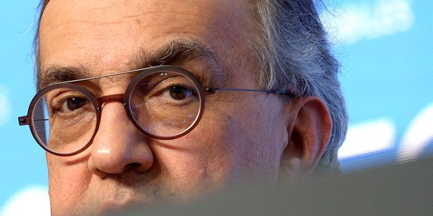 Fiat Chrysler Automobiles CEO Sergio Marchionne speaks during news conference in Balocco, northern Italy,...