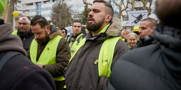 PARIS, FRANCE - FEBRUARY 02: Éric Drouet, spokesman and Gilets Jaunes leader during a demonstration dubbed...