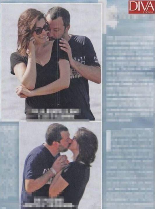 Matteo Salvini ed Elisa Isoardi avvistati a Sabaudia per una pausa