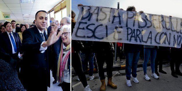 Di Maio torna nel suo liceo a Pomigliano tra le mini-contestazioni di operai e