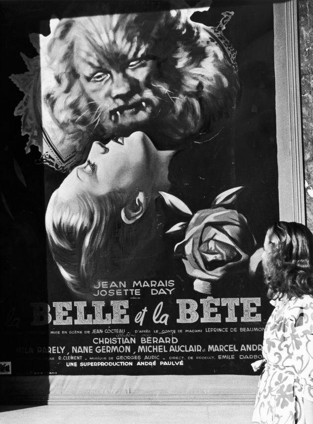 Manifesto del film 'La Belle et la Bete' presentato al primo festival di Cannes nel 1946 Cannes. (Photo...