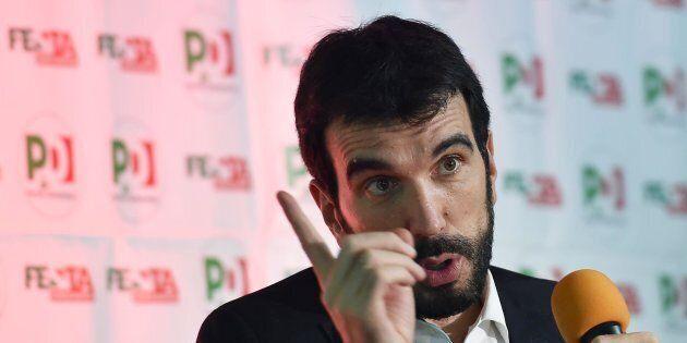 Maurizio Martina, segretario del Partito Democratico, in una recente immagine d'archivio. ANSA/ ALESSANDRO...