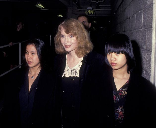 NEW YORK CITY - MARCH 4: Mia Farrow and daughters Lark Song Previn and Summer Song Previn attend 62nd...