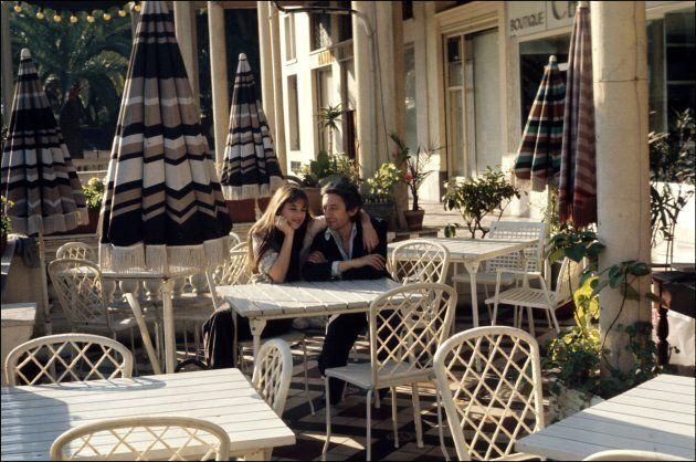 15 maggio 1974, Serge Gainsbourg e Jane Birkin al festival di Cannes. (Photo by GIRIBALDI/Gamma-Rapho...