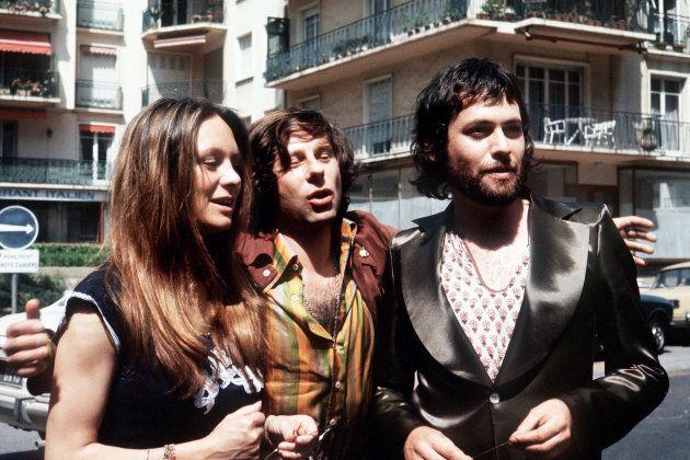 Maggio 1972. Il regista Roman Polanski insieme a Francesca Annis e Jon Fisch (R) al Festival di Cannes...