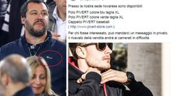 Salvini allo stadio con il giubbotto che piace ai