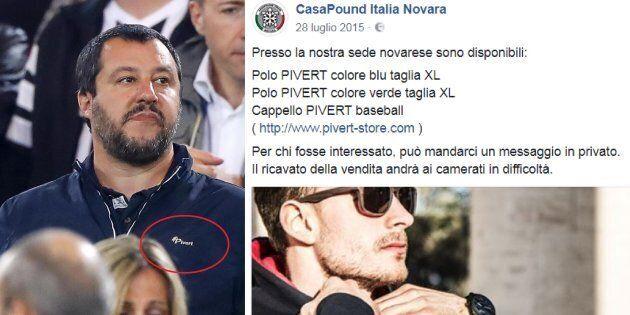 Salvini allo stadio con il giubbotto che piace ai fascisti del terzo millennio di
