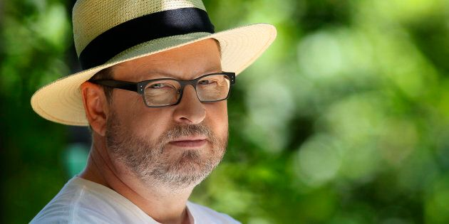 Director Lars Von Trier poses during an interview with Reuters in Mougins May 21, 2011. The Cannes film...