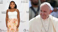 La sfida della bambina vegana al Papa: