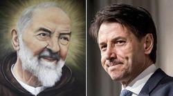 Padre Pio nel portafogli di Conte: