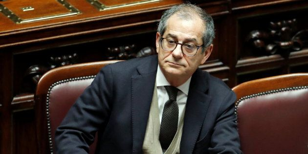 Italian Economy Minister Giovanni Tria attends a final vote on Italy's 2019 budget law at the Lower House...