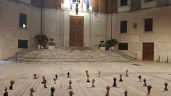 L'altra foto di Pescara. Protesta contro Matteo Salvini, accolto dalle