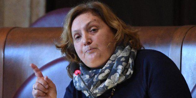 L'intervento dell'assessora all'Ambiente, Giuseppina Montanari, durante un Consiglio Comunale di