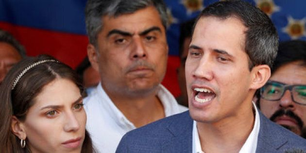 FILE PHOTO: Venezuelan opposition leader Juan Guaido, who many nations have recognized as the country's...