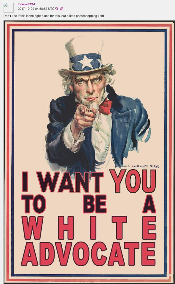 A piece of white supremacist propaganda created by Jonathan Gould, a specialist in the Army.