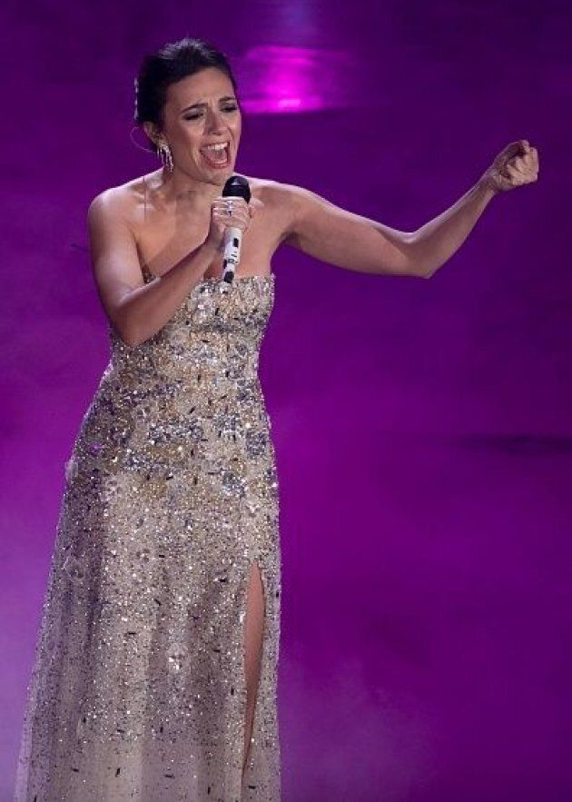 Italian actor Serena Rossi during the third evening of the 69th Sanremo Music Festival. Sanremo (Italy),...