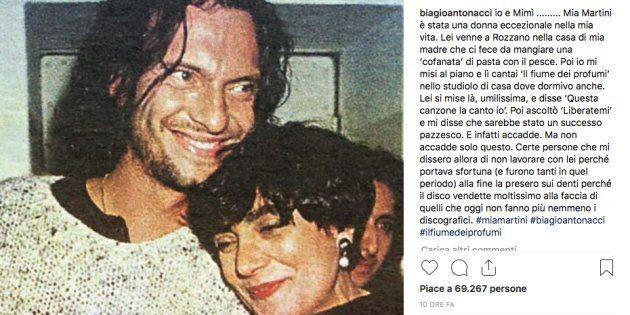 Mia Martini, l'omaggio di Biagio Antonacci:
