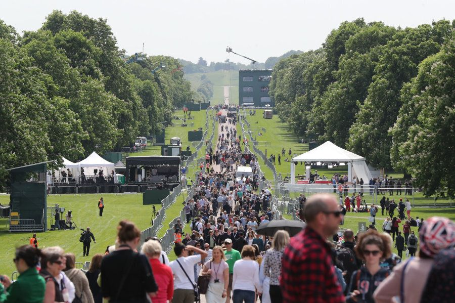 People on the Long walk in Windsor ahead of the wedding of Prince Harry and Meghan Markle on Saturday....