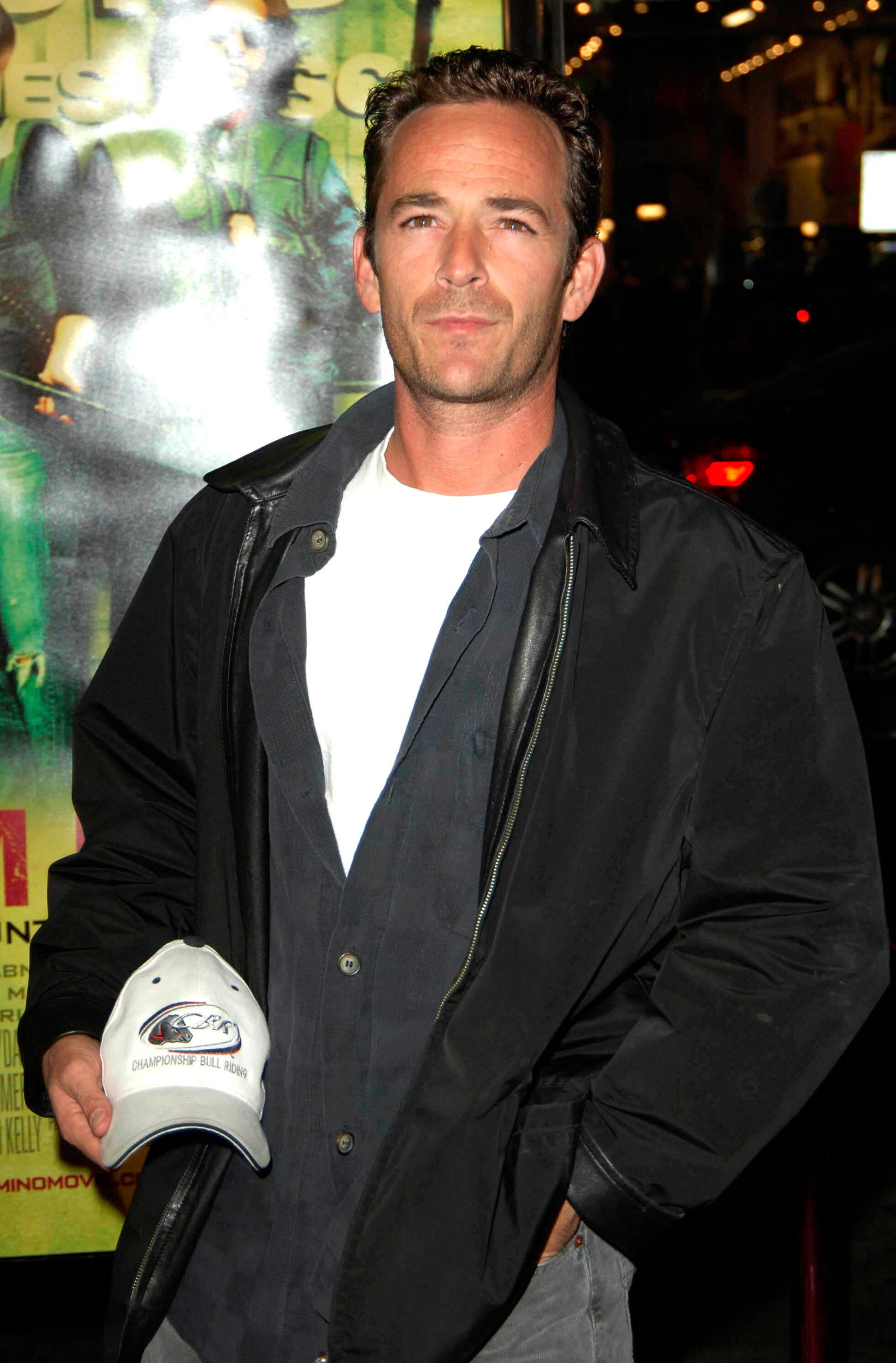 """MARCH 4TH 2019 - Actor Luke Perry has died in Los Angeles, California following a massive stroke suffered Wednesday morning February 27th at his home in Sherman Oaks, California. - File Photo by: Michael Germana/STAR MAX/IPx 2005 10/11/05 Luke Perry at the premiere of """"Domino"""". (Los Angeles, CA)"""