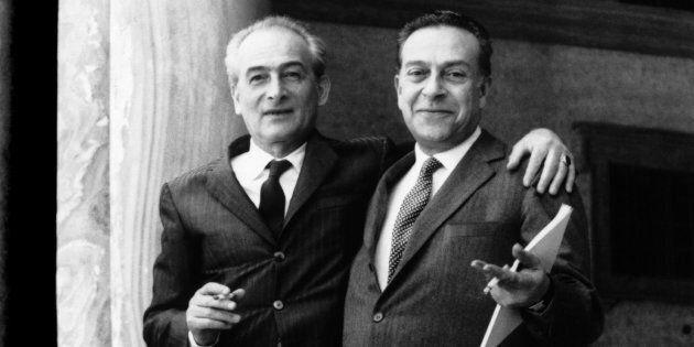 Il pittore francese Balthus con l'italiano Renato Guttuso a