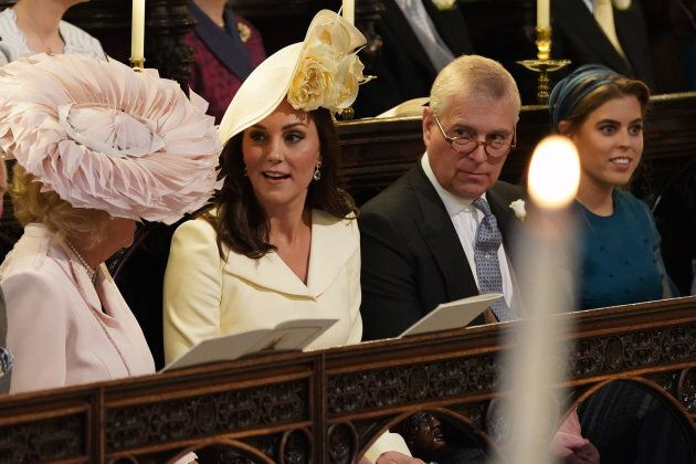 (L-R) Britain's Camilla, Duchess of Cornwall, Britain's Catherine, Duchess of Cambridge, Britain's Prince...