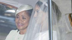 Gli occhi lucidi della mamma di Meghan mostrano tutta la gioia per le nozze della