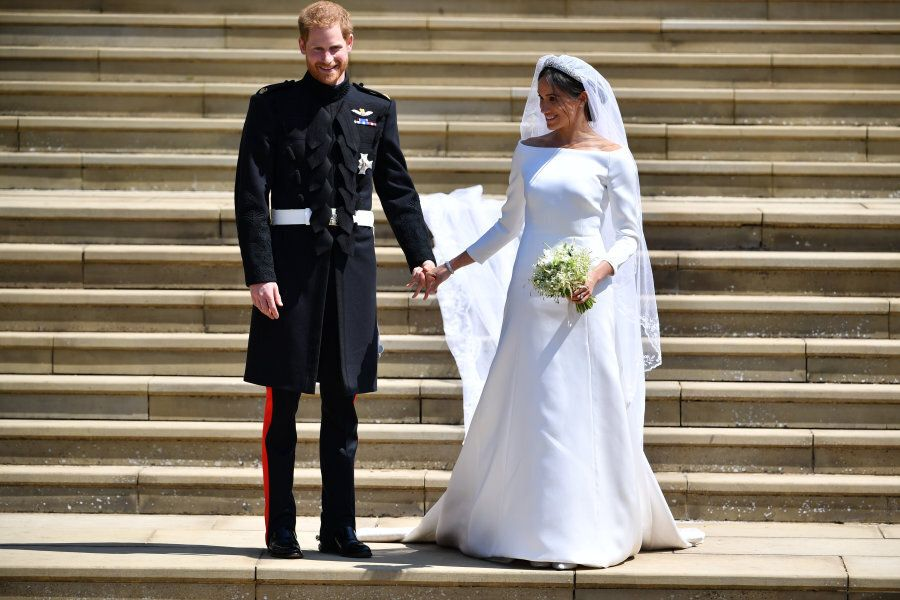 WINDSOR, UNITED KINGDOM - MAY 19: Prince Harry, Duke of Sussex and his wife Meghan, Duchess of Sussex...
