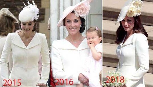 Doppio riciclo per l'abito di Kate: non l'aveva indossato solo al battesimo di