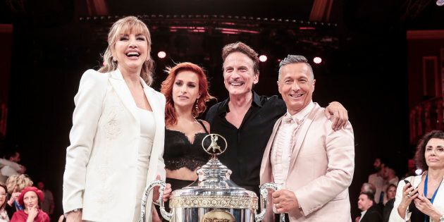 20/05/2018 Roma, Rai 1, trasmissione televisiva Ballando con le Stelle, nella foto i primi classificati...
