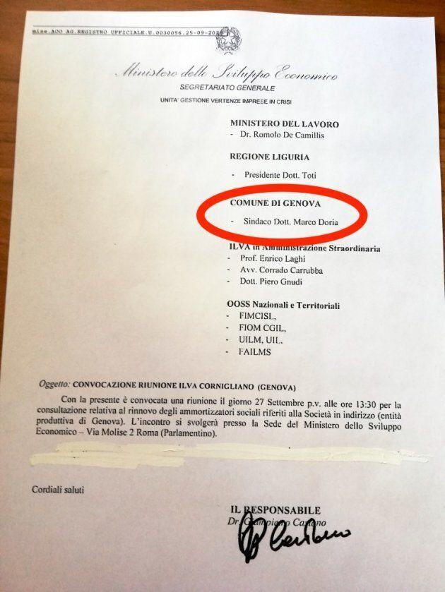 Il Mise convoca il Comune di Genova, ma il sindaco è ancora