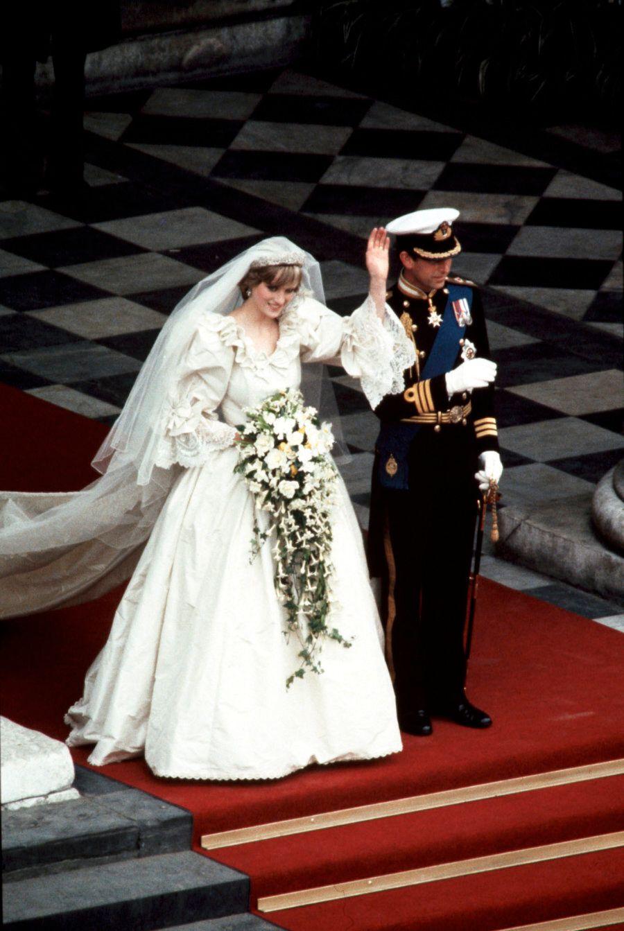 LONDON, UK - JULY 29, 1981: Royal Wedding. Photo Of Diana Princess of Wales taken by Ron Bull July 29,...