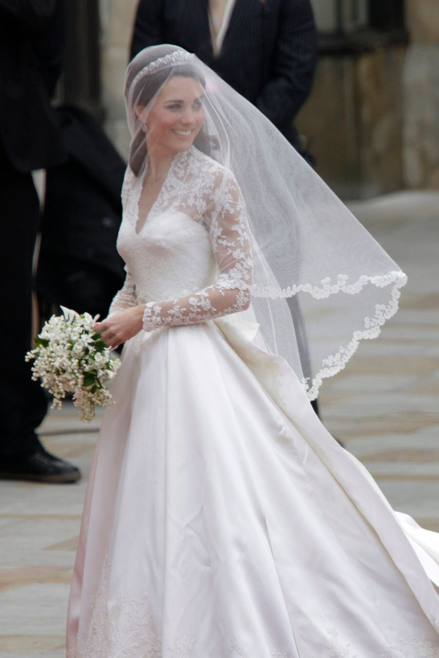 Kate Middleton arrives at Westminster Abbey for her royal wedding to Britain's Prince William in London....