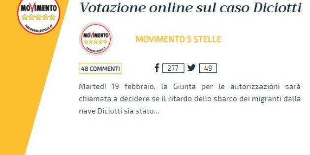 Quesito fuorviante nel voto M5S su Rousseau sul processo a Salvini, per dire No vota
