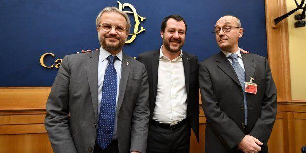 Claudio Borghi e Alberto Bagnai, leghisti euroscettici: